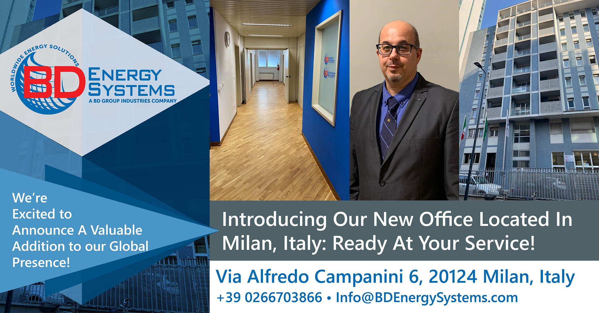 BD Energy Systems New Office Milan Italy